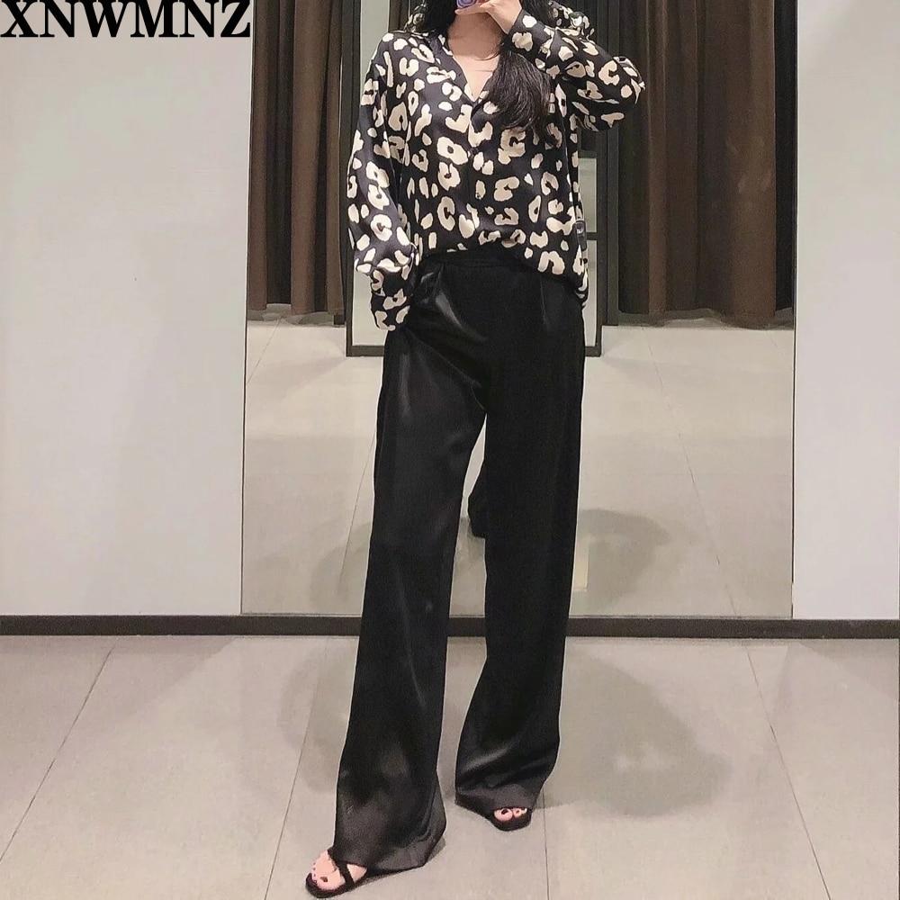 Купить атласная блузка с принтом животных теплая блузка воротником