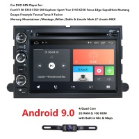 7'2 din Android9.0 4G Car multimedia player For Ford F150 Mustang Expedition Explorer Fusion 2006 2007 2009 radio GPS Navigation