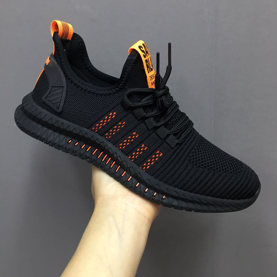 Runway New Style Korean-style Trend Athletic Shoes Men Fly Woven Breathable Versatile Comfortable Casual Shoes Hot Selling Shoes