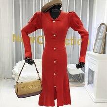 Женское трикотажное платье футляр зимнее однотонное свитер до