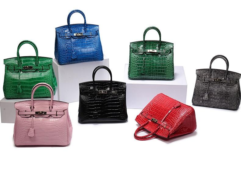 Promotion!2020 New Genuine Leather Handbag Three Sizes Embossed Platinum Fashion Shoulder Crossbody Bag Tote Bag Bolsa Feminin