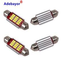 100PCS Festoon 31mm 36mm 39mm 41mm C5W CANBUS NO Error 자동 조명 12SMD 4014 LED 자동차 인테리어 돔 독서 램프 혼합 도매