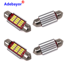 100PCS Festoon 31mm 36mm 39mm 41mm C5W CANBUS NO Error Auto Light 12SMD 4014 LED Car Interior Dome Reading Lamp Mixed wholesale