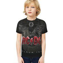 3d Gedruckt Kinder Kurzarm Ac/Dc Rock Band Hip Hop Kurzarm Jungen/Mädchen Sommer Mode Runde neck T-shirt Kurze NEUE