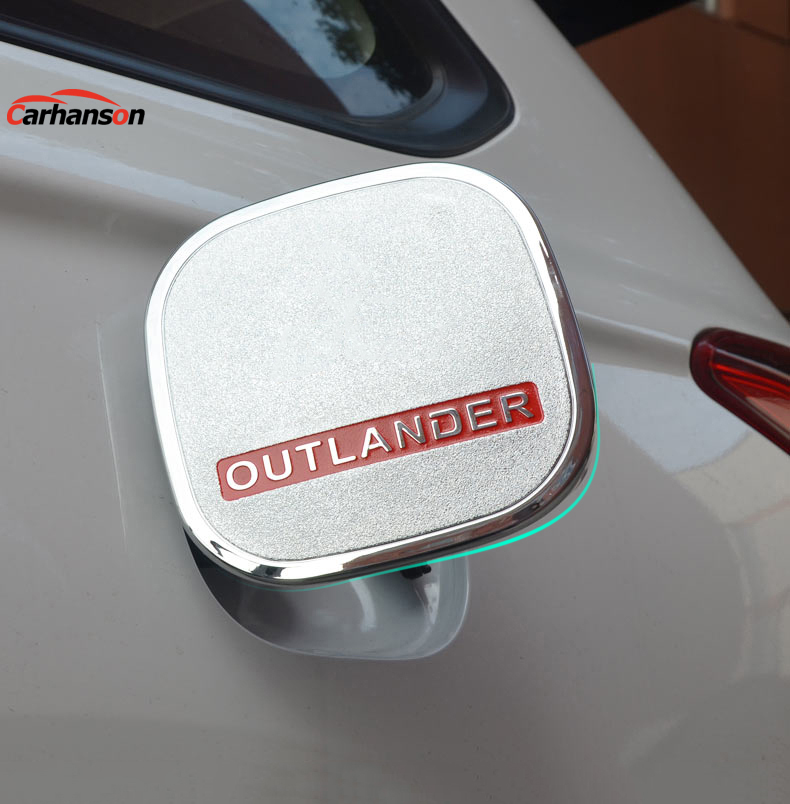 Auto accessories styling For <font><b>Mitsubishi</b></font> Outlander 2015 2016 2017 2018 Fuel tank cap abs chrome gas tank cover car sticker 1pcs image