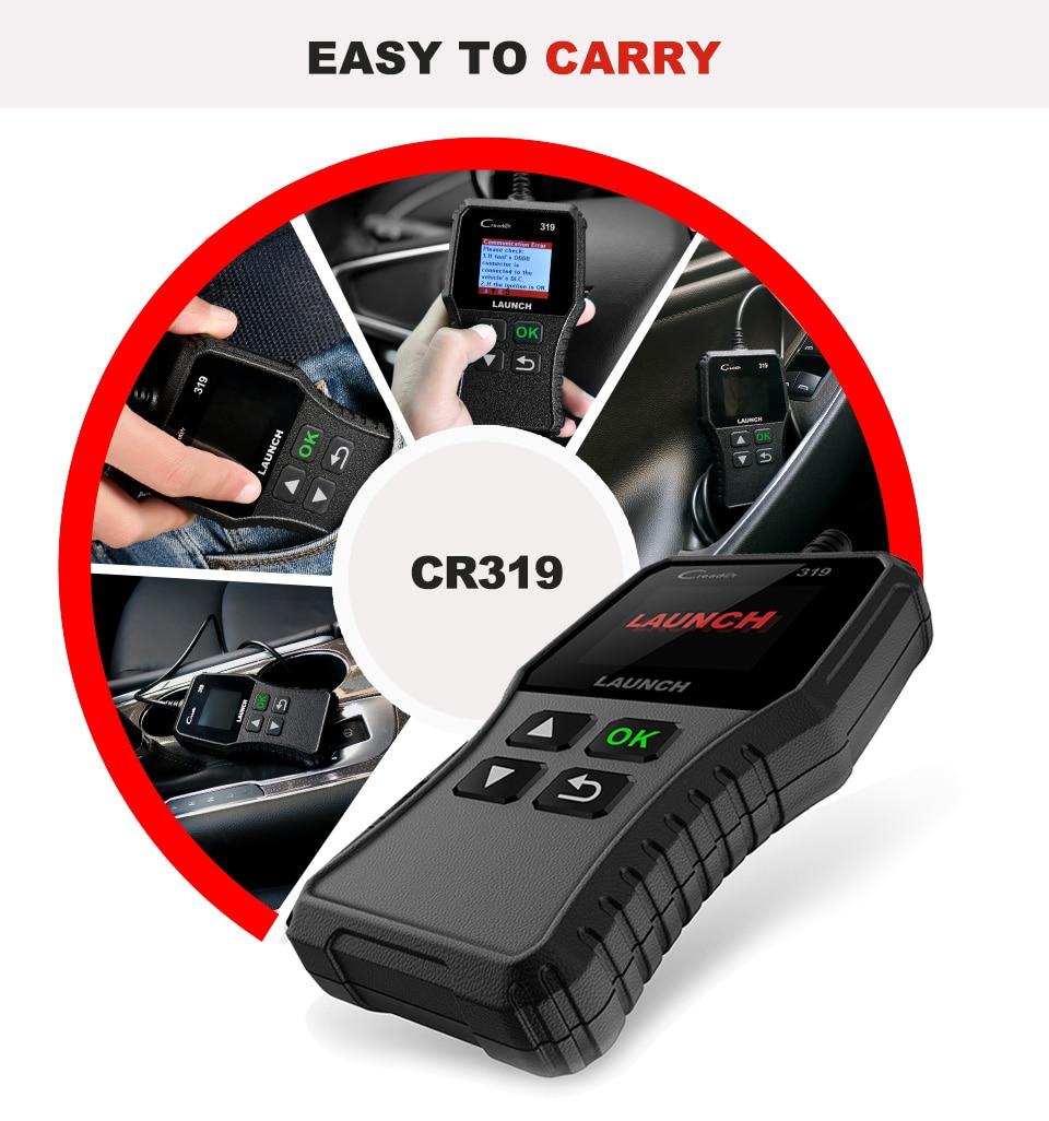 H730a7b21ad7f46ef93abc097aebb0f13J Launch X431 Creader 319 CR319 Auto Code Reader Full OBDII EOBD Automotive Diagnostic Tool OBD2 Scanner as Creader 6001 CR3001