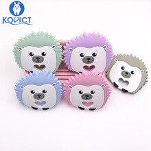 kovict Hedgehog Baby silicone Teether food Free BPA Silicone Teething beads Nurs