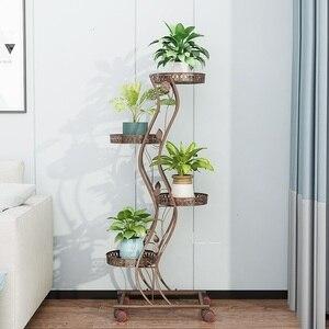 Image 4 - Salincagi Support Pour Plante Decoration Exterieur Outdoor Decor Mensole Per Fiori Flower Stand Iron Balkon Balcon Plant Shelf