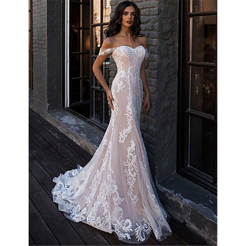 Sevintage Русалка Боло Свадебные платья с открытыми плечами vestidos de novia Champage свадебные платья невесты платье abito da sposa
