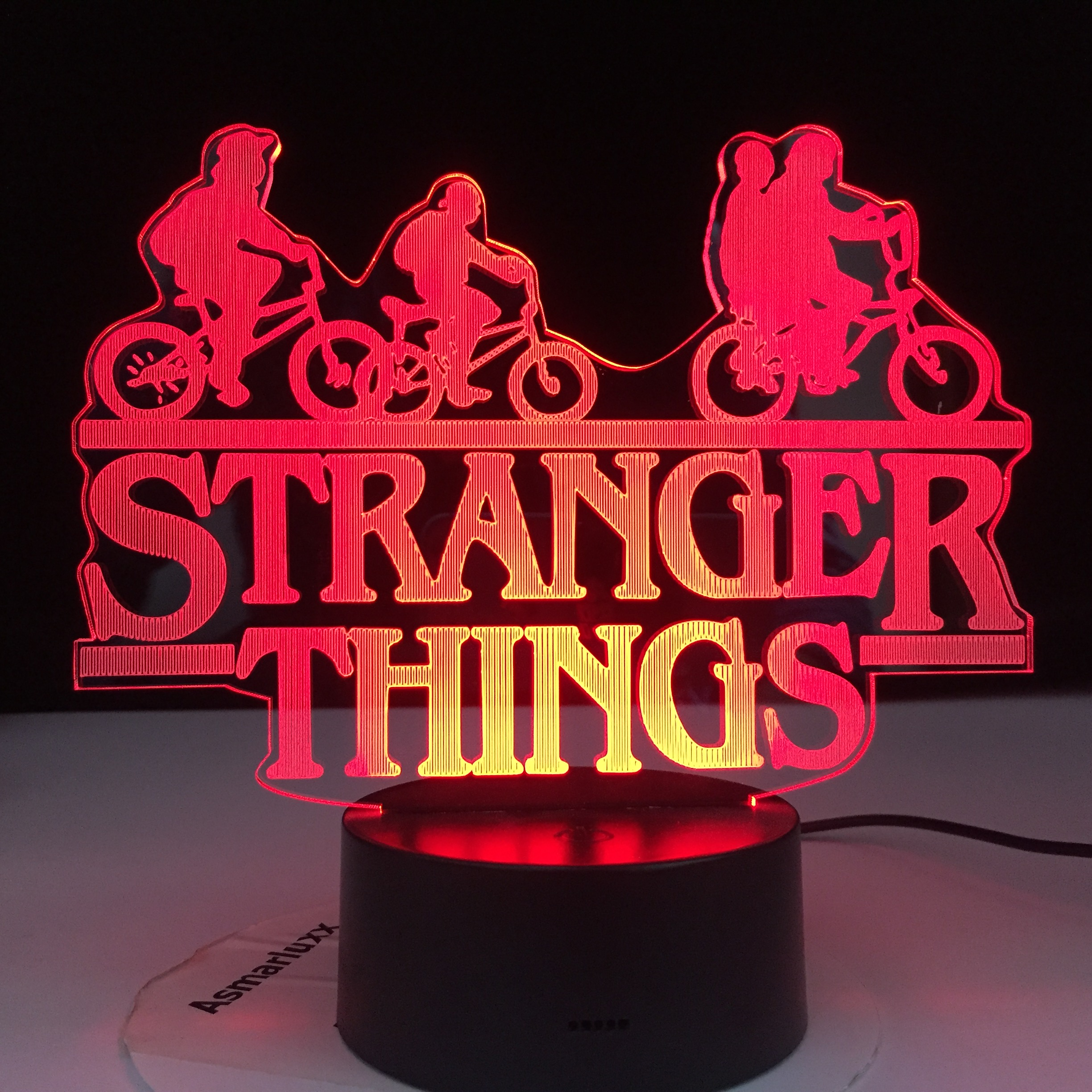 Stranger Things American Web Television Series Led Night Light 7 Colors Changing Touch Sensor Bedroom Nightlight Table Lamp Gift