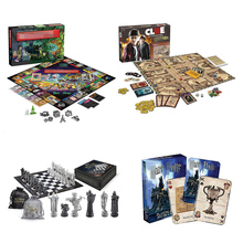 Monopoli Board Game, Clue Game ,Wizard Chess , Cards Playing Harri Potter Stranger Things Card Puzzle Family Game for Children my jungle puzzle board game funny game easy to play with party family puzzle game for children gift with family