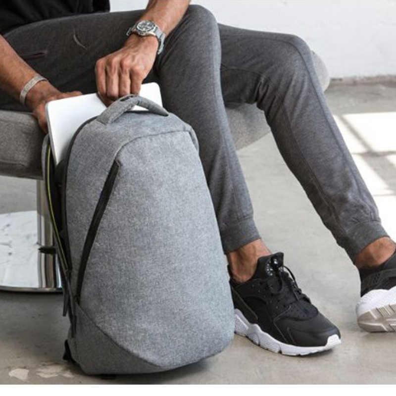 Tigernu Kasual Anti Air Anti Pencurian Pria 15.6 Inch Laptop Ransel 24L Sekolah untuk Anak Laki-laki Perjalanan Bisnis Pria Mochilas