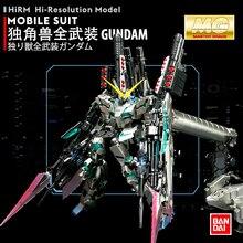 BANDAI MG 1/100 מתכת ציפוי צבע RX 0 מלא שריון Unicorn Gundam קאקה 20cm להרכיב פעולה צעצוע דמויות ילדים של מתנות