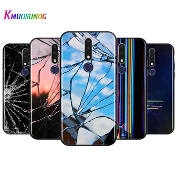 Bright Black Cover Craked screen for OPPO Reno 4 3 Pro 10X Zoom 2 Z F ACE X2 Pro 5G A5 A9 2020 Phone Case image