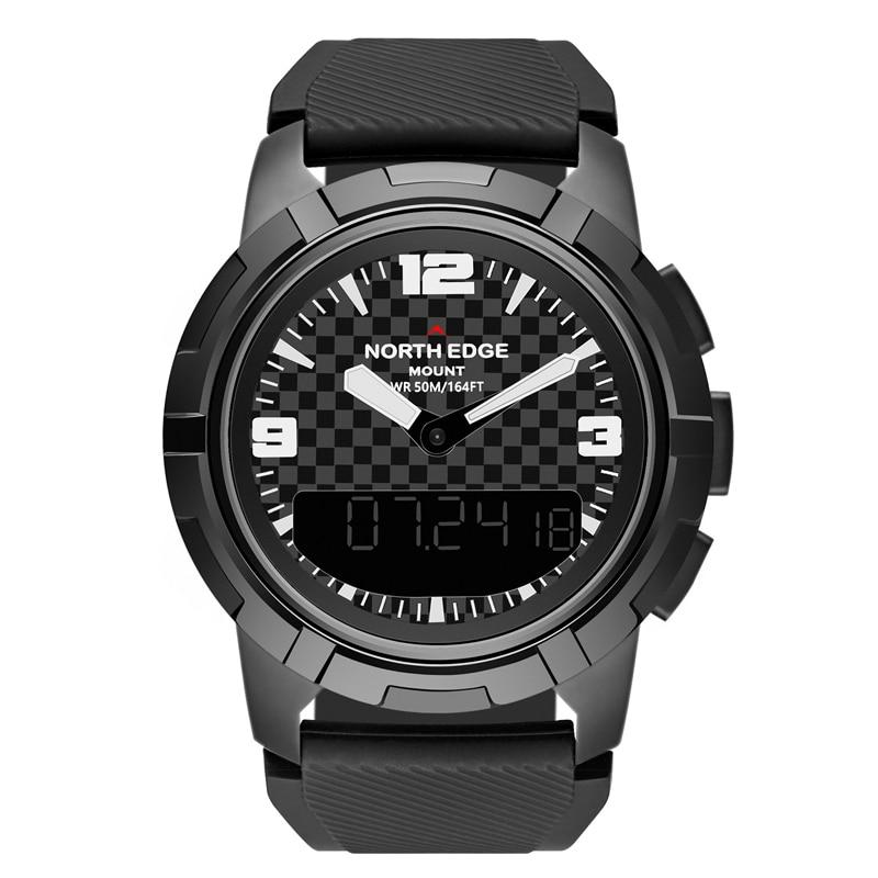 Цифровые часы, водонепроницаемые, мужские часы NORTH EDGE, спортивные, военные, светодиодный браслет, цифровые часы, relogio masculino, часы с Bluetooth - 2