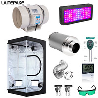 Led Grow Light suit With 600W 900W 1200W VEG/BLOOM Led Grow Light 4/6 Inch Fan Activated Carbon Filter Set 50 150 CM Grow Tent