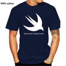 Swift programmeur T écrire le Code. Changer Le Monde. Premium T-Shirt