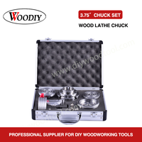 WOODIY 3.75inch 95mm 4 Jaws Self center Wood Turning Lathe Chuck Set Accessories Suits Scroll chuck 4 Number Of chucks
