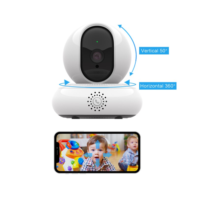 EC67 HD 2MP Smart Camera PTZ Rotation Night Vision Monitoring Two-way Audio Motion Detection Multi-users Viewing Remote Control