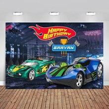 Photography Backdrops Vinyl Green Boy Hot-Wheel Racing-Car High-Quality