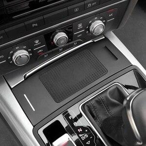 Image 2 - 10W araba QI kablosuz şarj için Audi A6 C7 RS6 A7 2012 2013 2014 2015 2016 2017 2018 şarj plaka kablosuz telefon tutucu