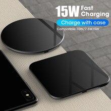 Draadloze Oplader Pad Voor iPhone X XS MAX XR 8 Plus Huawei P30 pro 15W Qi Snelle Opladen Draadloze opladen