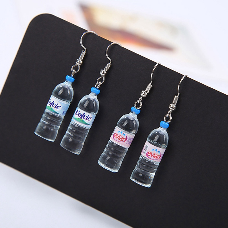 New Funny Creative Handmade Water Bottles Dangle Earrings Jewelry Accessories Cute Korean Trendy Womens Jewelry Earrings