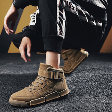2019 Street style Hight top Boots Vintage light weight Men casual shoes autumn winter Warm Ankle men boots Hook&loop Snow