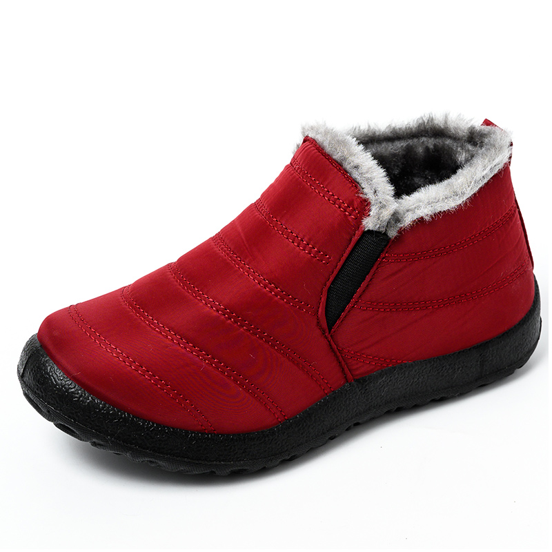 Women Boots Lightweight Winter Shoes Women Ankle Botas Mujer Waterpoor Snow Boots Female Slip On Casual Shoes Plush Footwear