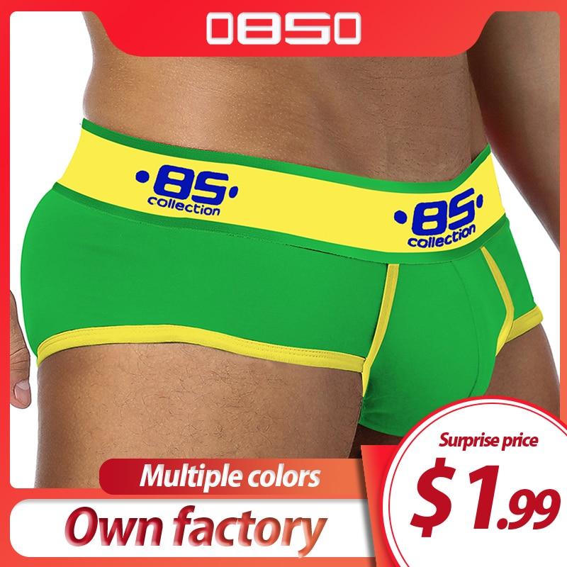 ORLVS Cotton Men Underwear Plus Size Briefs Men Cuecas Soft Underpants High Quality Men Panties Plus Size