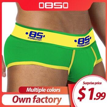 ORLVS Cotton Men Underwear Plus size Briefs cuecas Soft Underpants High Quality Panties - discount item  21% OFF Men's Underwears