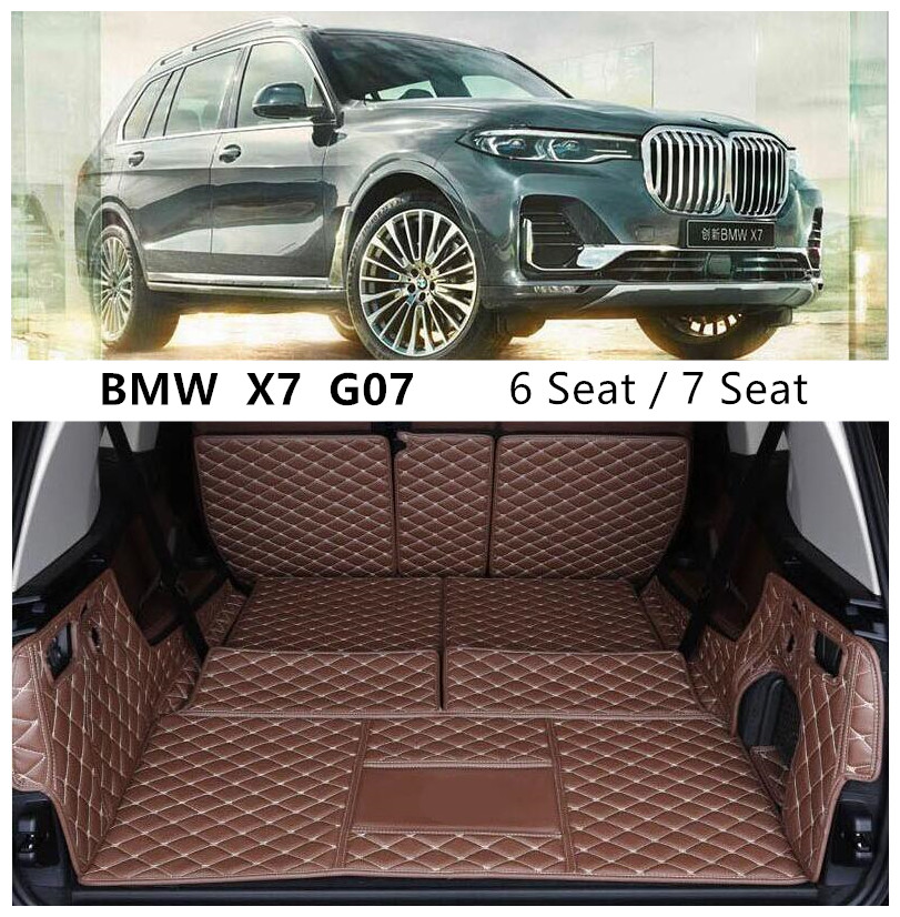 For BMW X7 G07 6 7 Seat 2019 2020 2021+ Full Rear Trunk Tray Liner Cargo Mat Floor Protector Foot Pad Mats