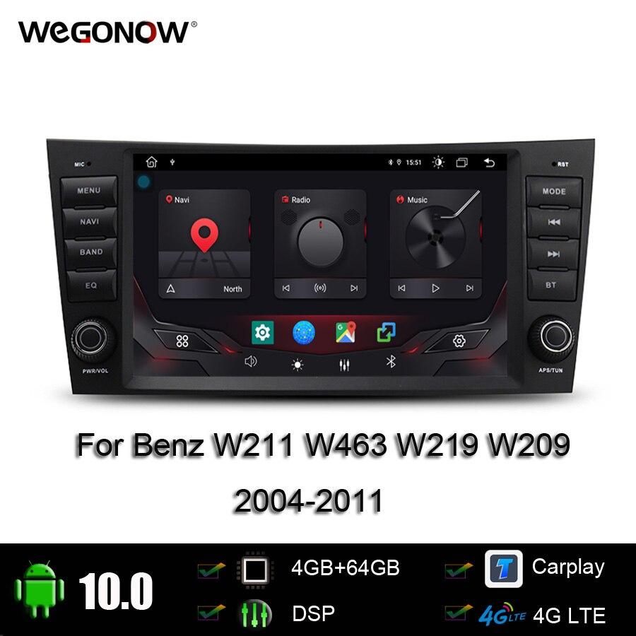 Автомобильный DVD-плеер Carplay DSP IPS 8 дюймов Android 10,0 4 Гб + 64 Гб SIM GPS карта WIFI радио Bluetooth для Benz W211 W463 W219 W209 2004-2011