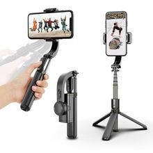 Cardan handheld estabilizador do telefone móvel selfie vara titular suporte ajustável para iphone xiaomi redmi huawei samsung android l08