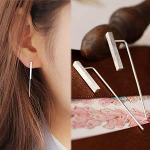 REETI Dangle-Earrings Fashion Jewelry 925-Sterling-Silver Women for Long Party Vertical-Bar-Wedding