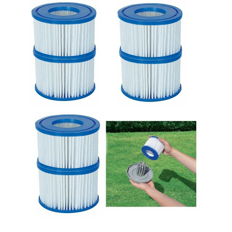 Swimming Pool Filter Water Pump Filter Pump 4 X Lazy Lay Z Spa Filters Cartridge Vegas Monaco Miami Palm Springs Size VI 4.5 Cm