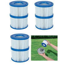 цена на Swimming Pool Filter Water Pump Filter Pump 4 X Lazy Lay Z Spa Filters Cartridge Vegas Monaco Miami Palm Springs Size VI 4.5 cm