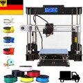3D-принтер Drucker A8 Prusa I3, нормальный 3D-принтер 0,4 мм, сопло i3 из алюминиевого сплава, принтер «сделай сам», нить в наличии в США
