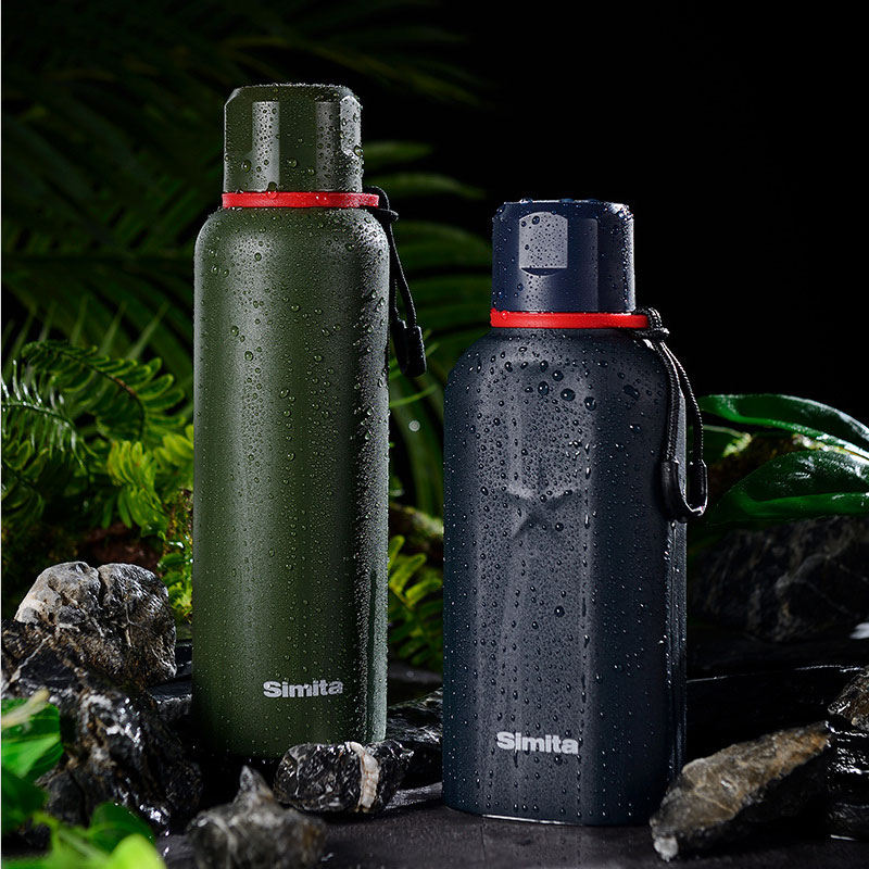 Stainless Steel Vacuum Flask Portable Travel Thermos Bottle Coffee Mug Leakproof Outdoor Sport Military Kettle Camping Thermocup