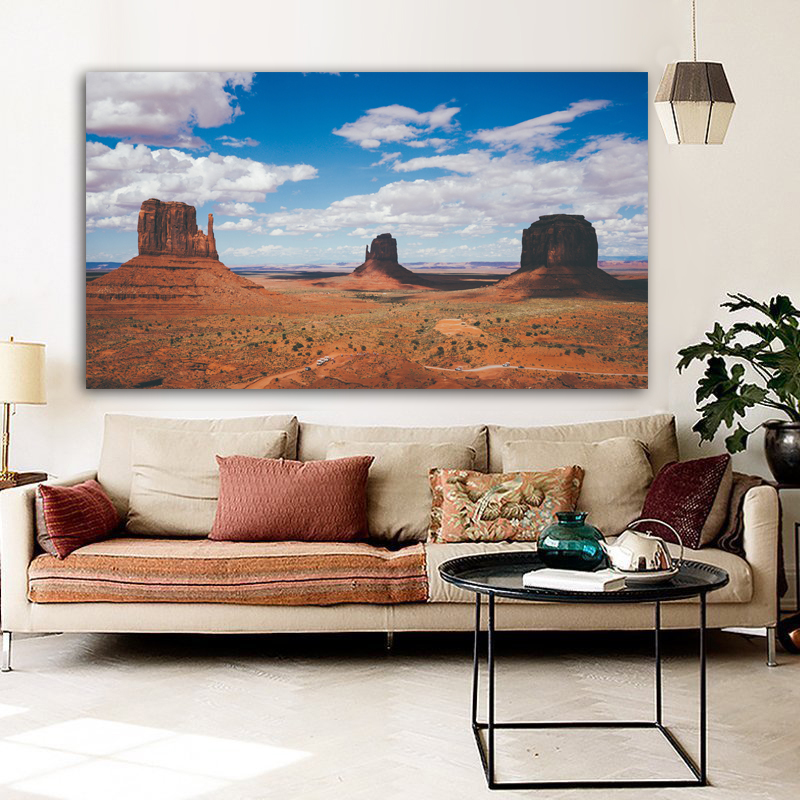 RELIABLI Poster Canvas Painting Landscape Print Desert Valley Wall Art Wall Pictures For Living Room Home Decoration Unframed
