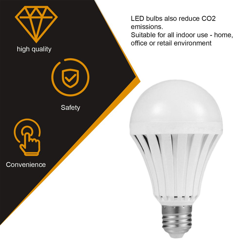 LED Smart Bulb E27 5W LED <font><b>Emergency</b></font> <font><b>Light</b></font> Bulb Energy Saving LED Lighting Lamp Bulb image