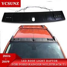 Acessórios do telhado do estilo do raptor da luz do telhado do diodo emissor de luz para ford ranger wildtrack 2016 2017 2018 2019 t7