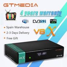 Hd completo gtmedia v8x DVB-S2 atualização do receptor de satélite de gtmedia v8 nova v9 super suporte h.265 built-in wi-fi nenhum aplicativo