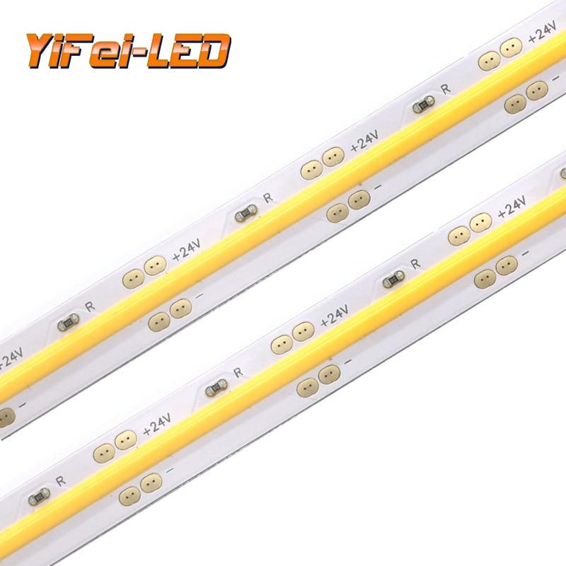 High Density COB//FOB Led Flexible Strip 12V//24V for Cupboard Wardrobe Decor