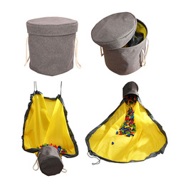 SlideAway Toy Clean-up Storage Bag Multifunctional Portable Toys Organizer Toy Bag Basket Integrated Waterproof Storage Bucket