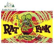 EARLFAMILY 13cm x 8,1 cm coche pegatina Rat Fink estroboscópica Banner RNV etiqueta JDM creativo modificado pegatinas de tronco de vinilo gráfico Original