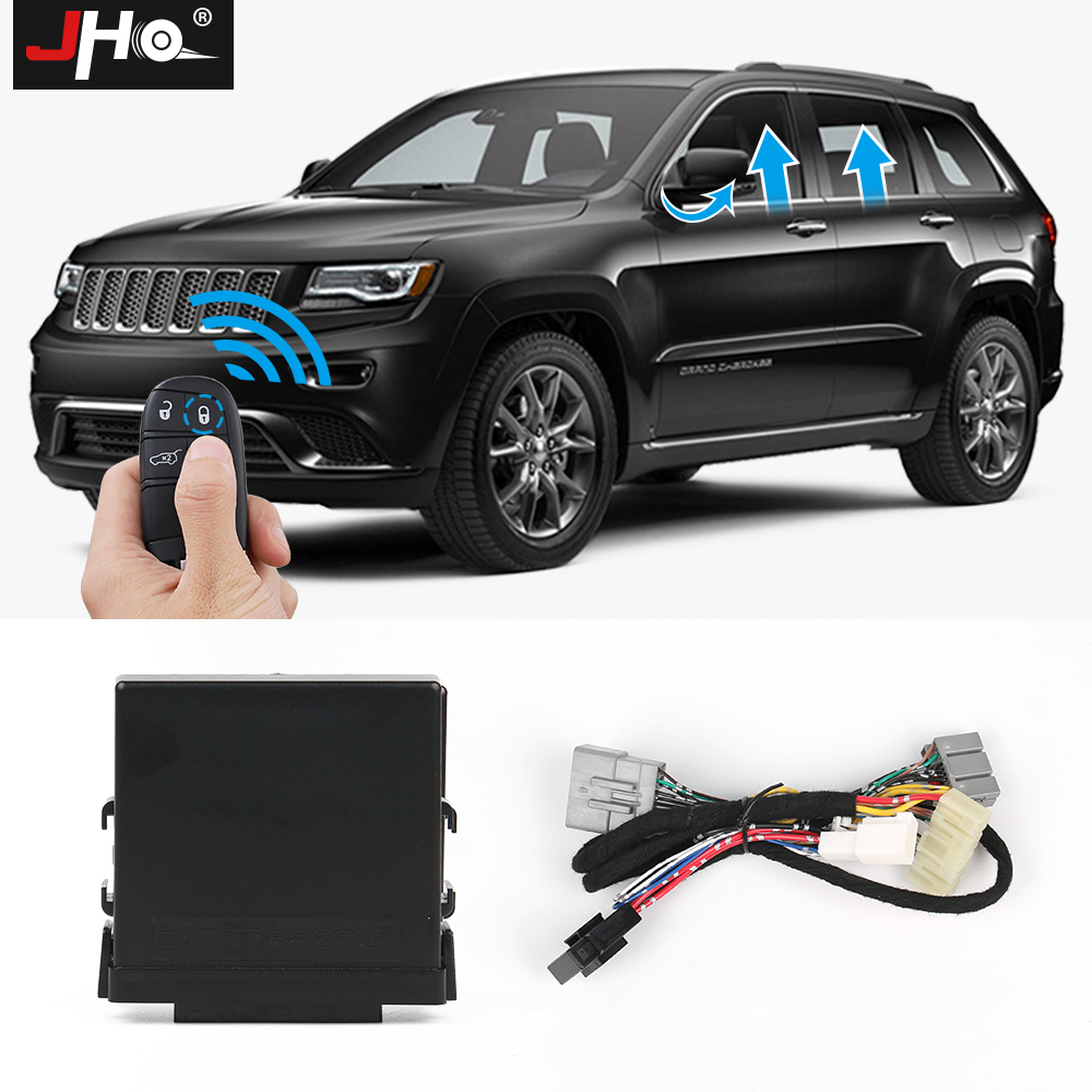 JHO Automatic 4-Door Car Power Window Closer Module Kit Accessories For 2014-2019 Jeep Grand Cherokee Limited 15 2016 17 18 WK2