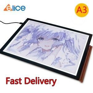 Elice A3 светодиодный планшет для рисования, USB светодиодный светильник, коробка для копирования, цифровая Графическая панель, электронный пла...