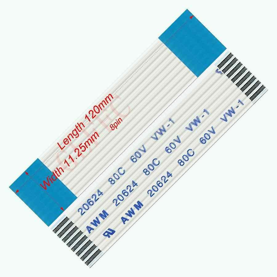 8pin 1.25 PITCH 120 มม.-3000 มม.-ประเภทสายแบนแบบยืดหยุ่น FFC AWM 20624 ROHS สำหรับ TTL LCD DVD คอมพิวเตอร์