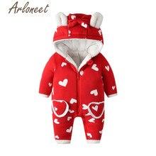 Одежда arloneet; зимнее плотное пальто для маленьких мальчиков; комбинезон с рисунком кролика; Верхняя одежда на молнии с капюшоном; хлопковое пальто для малышей; Верхняя одежда для мальчиков